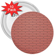 Brick Lake Dusia Wall 3  Buttons (10 Pack)