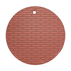 Brick Lake Dusia Wall Round Ornament (two Sides)