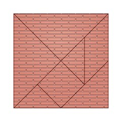 Brick Lake Dusia Wall Acrylic Tangram Puzzle (6  X 6 )