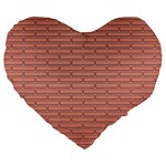 Brick Lake Dusia Wall Large 19  Premium Heart Shape Cushions Front
