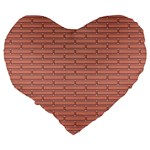Brick Lake Dusia Wall Large 19  Premium Heart Shape Cushions Back