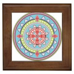 Drawing Mandala Art Framed Tiles
