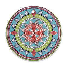 Drawing Mandala Art Ornament (Round)