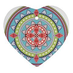 Drawing Mandala Art Ornament (heart)
