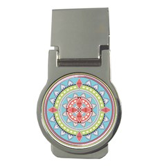 Drawing Mandala Art Money Clips (round)