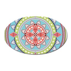 Drawing Mandala Art Oval Magnet