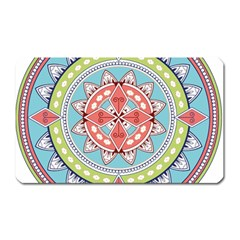 Drawing Mandala Art Magnet (rectangular)