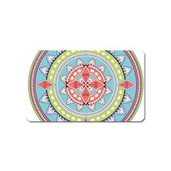 Drawing Mandala Art Magnet (name Card)
