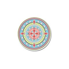 Drawing Mandala Art Golf Ball Marker