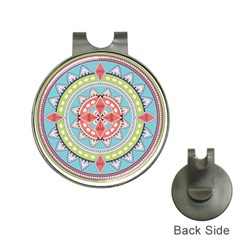 Drawing Mandala Art Hat Clips With Golf Markers