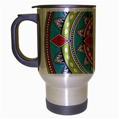 Drawing Mandala Art Travel Mug (Silver Gray)