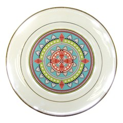 Drawing Mandala Art Porcelain Plates