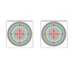 Drawing Mandala Art Cufflinks (Square)