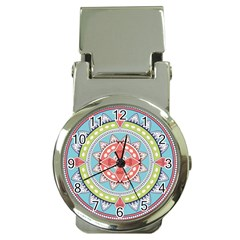 Drawing Mandala Art Money Clip Watches