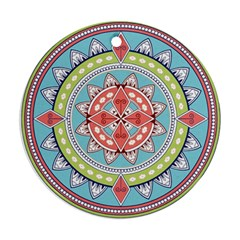 Drawing Mandala Art Round Ornament (Two Sides)