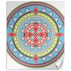 Drawing Mandala Art Canvas 8  X 10