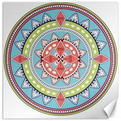 Drawing Mandala Art Canvas 16  X 16