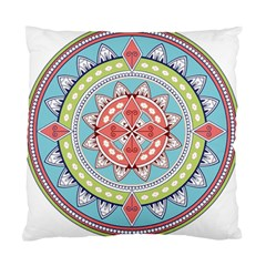 Drawing Mandala Art Standard Cushion Case (two Sides)