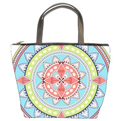 Drawing Mandala Art Bucket Bags