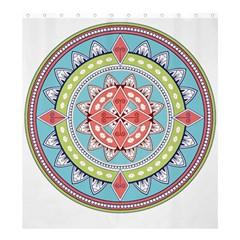 Drawing Mandala Art Shower Curtain 66  X 72  (large)