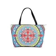 Drawing Mandala Art Shoulder Handbags