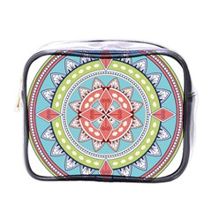 Drawing Mandala Art Mini Toiletries Bags