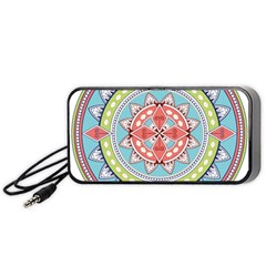 Drawing Mandala Art Portable Speaker (Black)