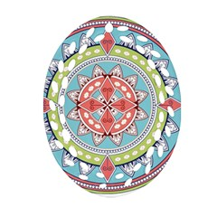 Drawing Mandala Art Oval Filigree Ornament (two Sides)