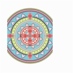 Drawing Mandala Art Small Garden Flag (Two Sides)