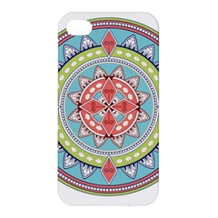 Drawing Mandala Art Apple Iphone 4/4s Premium Hardshell Case