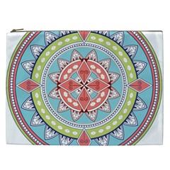 Drawing Mandala Art Cosmetic Bag (xxl)