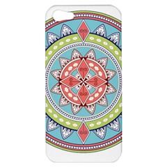 Drawing Mandala Art Apple Iphone 5 Hardshell Case