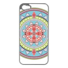 Drawing Mandala Art Apple Iphone 5 Case (silver)