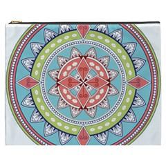 Drawing Mandala Art Cosmetic Bag (xxxl)