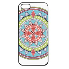 Drawing Mandala Art Apple Iphone 5 Seamless Case (black)