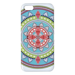 Drawing Mandala Art Apple Iphone 5 Premium Hardshell Case