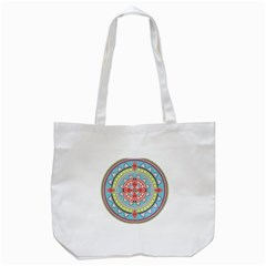 Drawing Mandala Art Tote Bag (white)