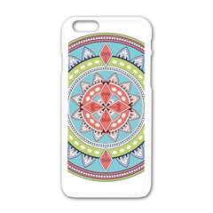 Drawing Mandala Art Apple Iphone 6/6s White Enamel Case