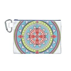 Drawing Mandala Art Canvas Cosmetic Bag (m)