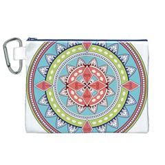 Drawing Mandala Art Canvas Cosmetic Bag (xl)