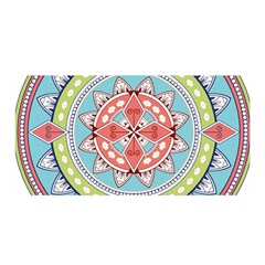 Drawing Mandala Art Satin Wrap