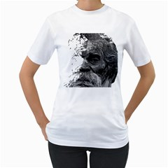 Grandfather Old Man Brush Design Women s T Shirt (white) (two Sided)