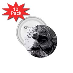 Grandfather Old Man Brush Design 1.75  Buttons (10 pack)