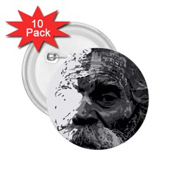 Grandfather Old Man Brush Design 2.25  Buttons (10 pack)