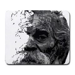 Grandfather Old Man Brush Design Large Mousepads