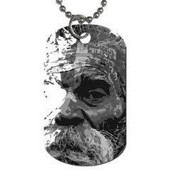 Grandfather Old Man Brush Design Dog Tag (one Side)