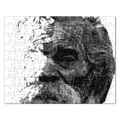 Grandfather Old Man Brush Design Rectangular Jigsaw Puzzl