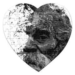 Grandfather Old Man Brush Design Jigsaw Puzzle (heart)