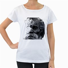 Grandfather Old Man Brush Design Women s Loose Fit T Shirt (white)