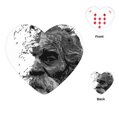 Grandfather Old Man Brush Design Playing Cards (heart)